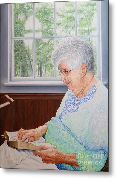 Metal Print featuring the painting Margret Lawson by Mike Ivey