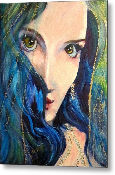 Mariah Blue Metal Print