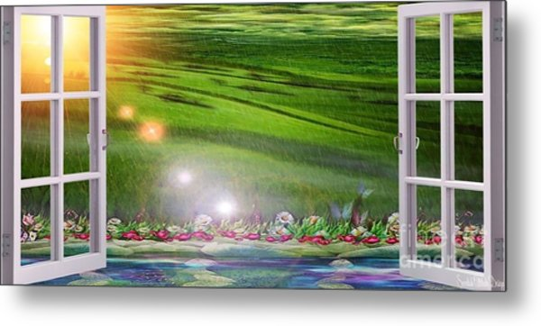 Mariannes Open Window Metal Print