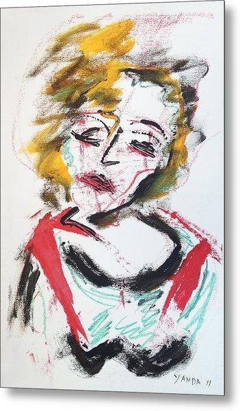 Marilyn Abstract Metal Print