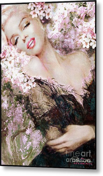 Marilyn Cherry Blossom B Metal Print
