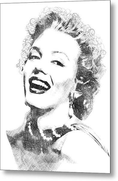 Marilyn Monroe Bw Portrait Metal Print