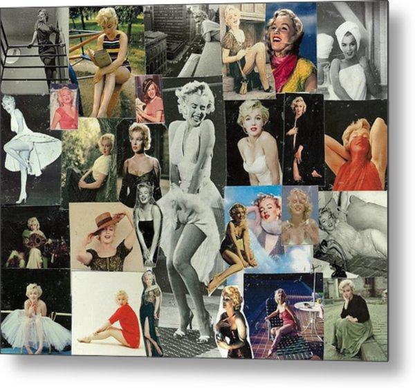 Marilyn Monroe Collage 1 Metal Print