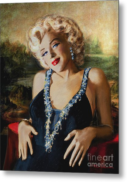 Marilyn Monroe  Mona Lisa  Metal Print