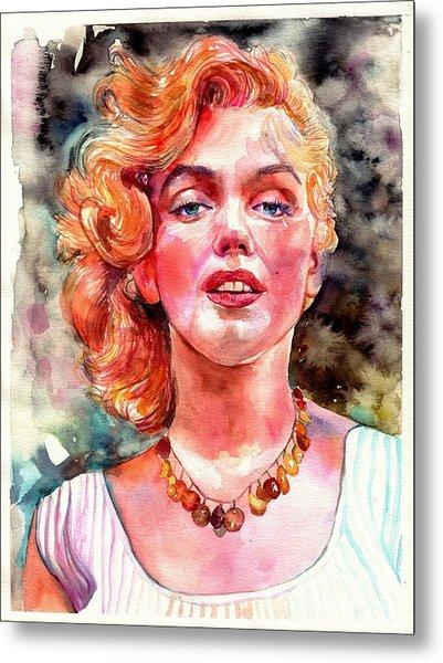 Marilyn Monroe Painting Metal Print