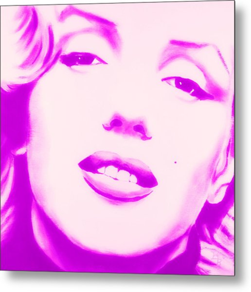 Marilyn Monroe, Purple And Pink Metal Print