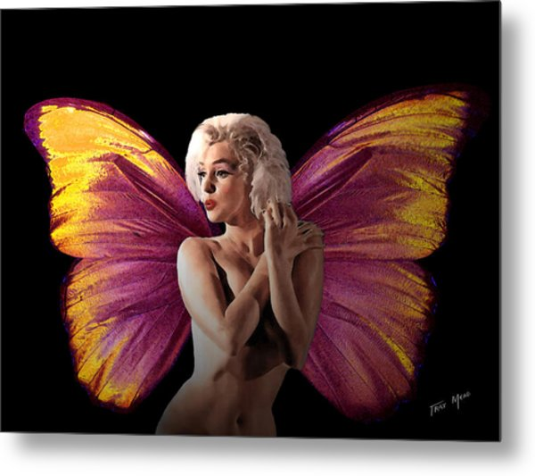 Marilyn Monroe The Fairy Metal Print by Tray Mead