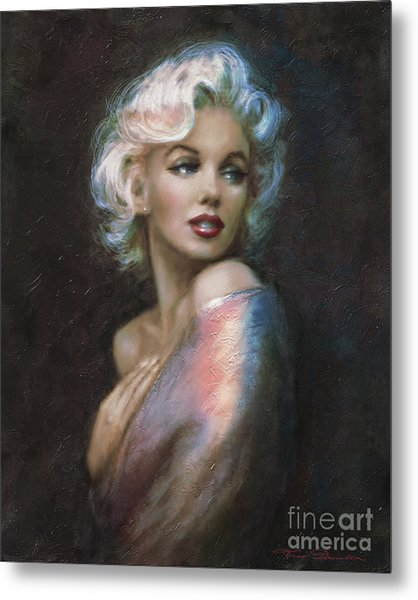 Marilyn Romantic Ww 4 Blue Metal Print