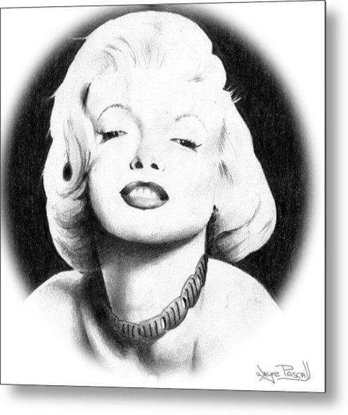 Marilyn Metal Print by Wayne Pascall