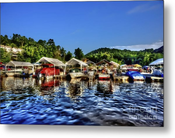 Marina At Cheat Lake Clear Day Metal Print
