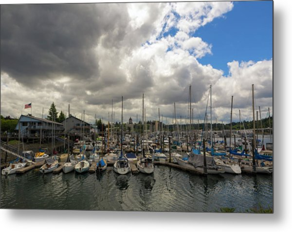 Marina In Olympia Washington Waterfront Metal Print