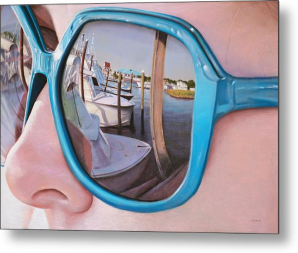 Marina Reflection Metal Print