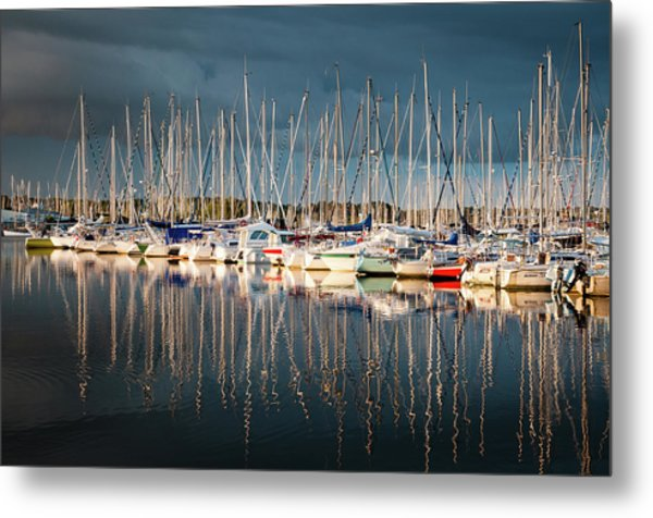 Marina Sunset 4 Metal Print