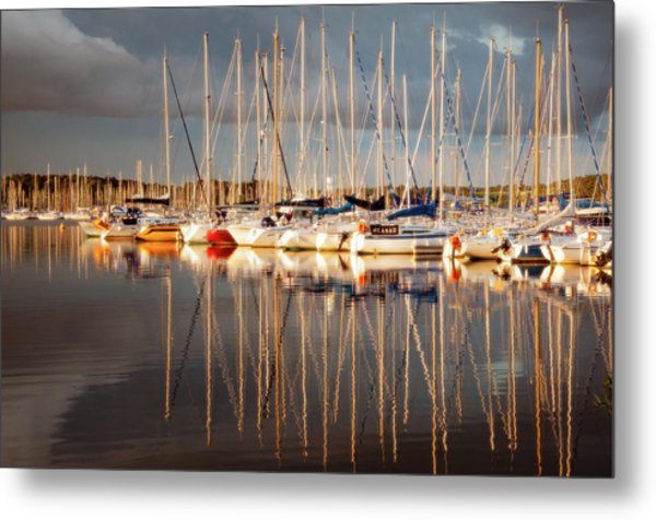 Marina Sunset 6 Metal Print