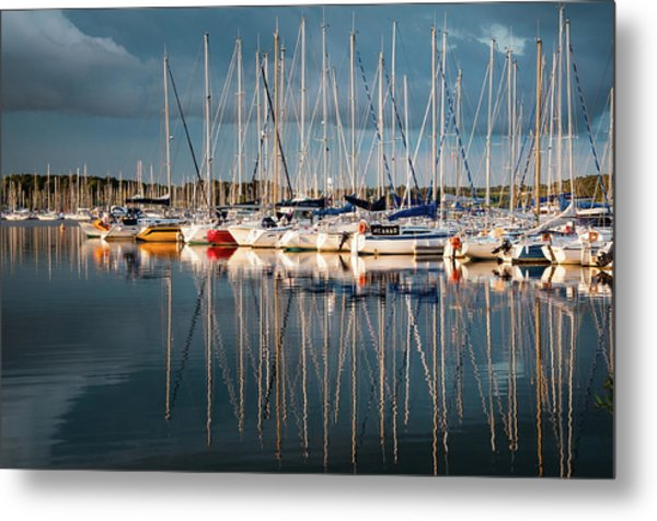 Marina Sunset 7 Metal Print