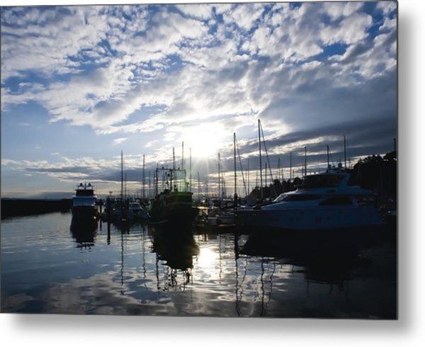 Marina Sunset Metal Print by Tom Dowd