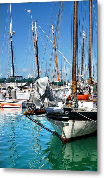 Marinas And Masts  Metal Print