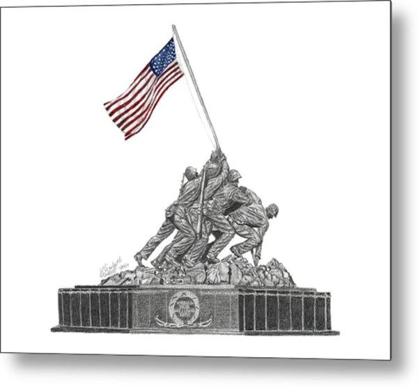 Marine Corps War Memorial - Iwo Jima Metal Print