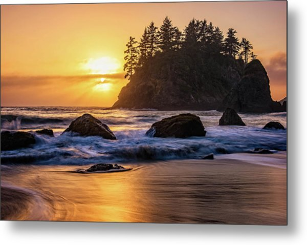 Marine Layer Sunset At Trinidad, California Metal Print