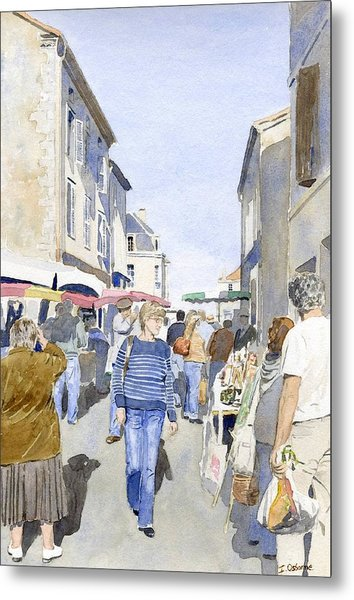 Market Day   Metal Print by Ian Osborne