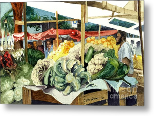 Market Day At Ipanema Metal Print