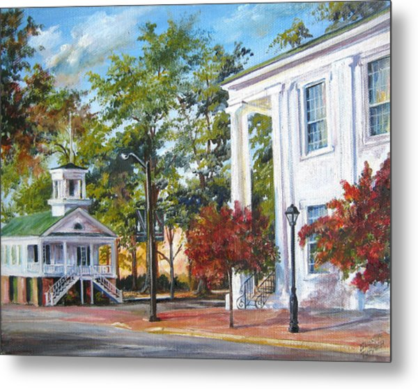 Market Hall In The Fall Metal Print