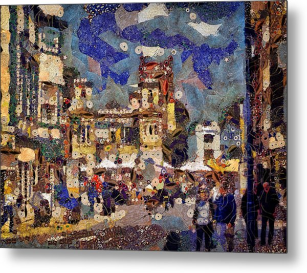 Market Square Monday Metal Print
