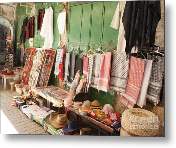 Market Stall In Hebron 2 Metal Print