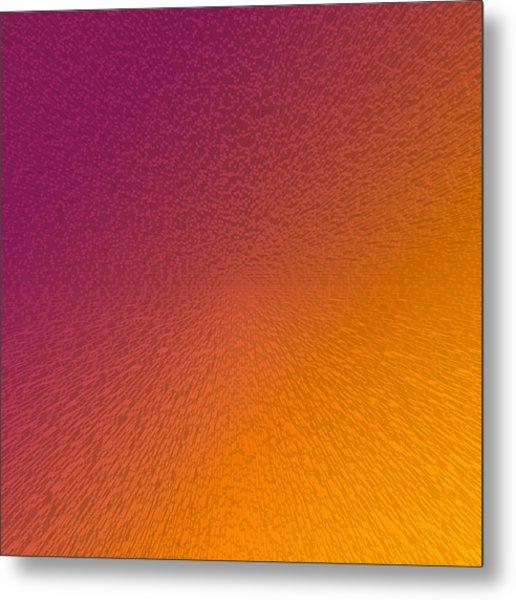 Maroon And Orange Metal Print