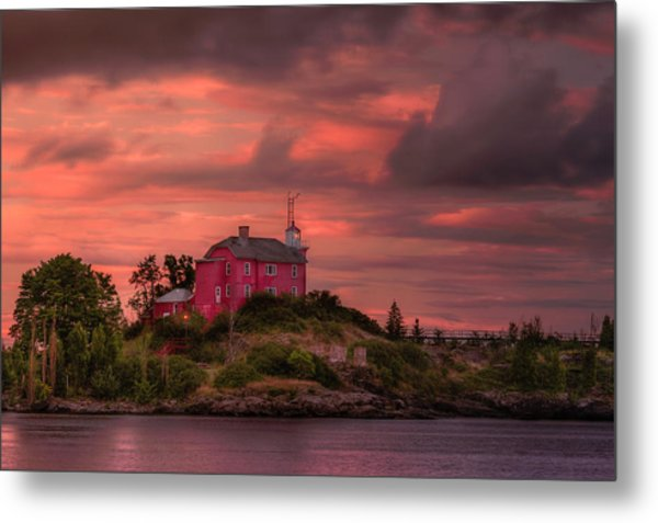 Marquette Harbor Lighthouse Metal Print