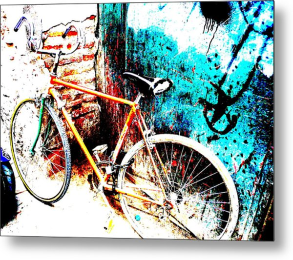 Marrakech Funky Bike  Metal Print