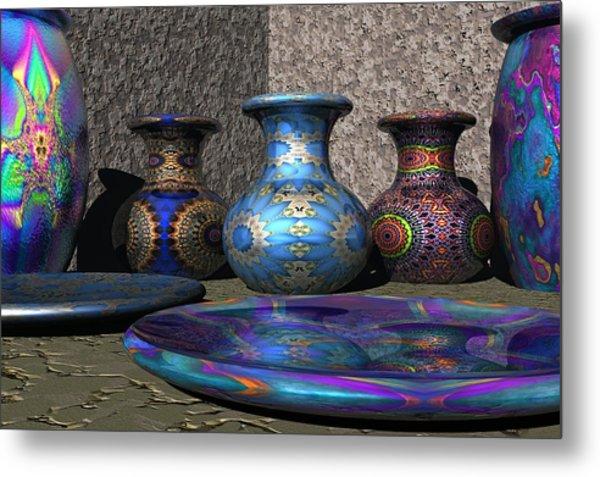 Marrakesh Open Air Market Metal Print