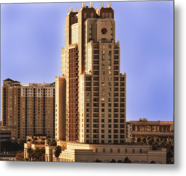 Metal Print featuring the photograph Marriott Of Tampa Bay by Linda Constant