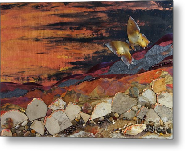 Mars Butterfly Effect Metal Print