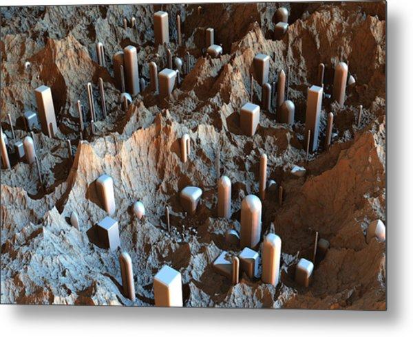 Mars Colony One Metal Print