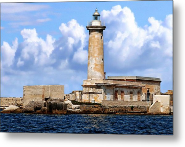 Marsala Lighthouse Metal Print