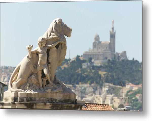 Marseille-saint-charles Statue, France Metal Print