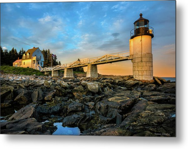 Metal Print featuring the photograph Marshall Point Light Aglow by Expressive Landscapes Fine Art Photography by Thom