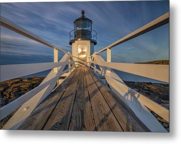 Marshall Point Lighthouse At Sunrise Metal Print