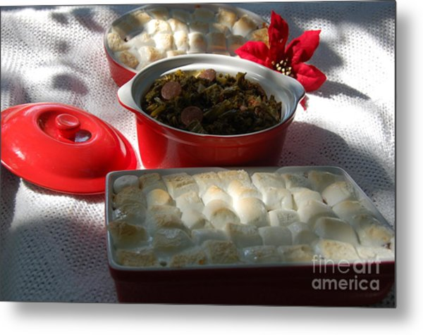 Marshmellow Covered Candied Yams And Southern Greens Metal Print
