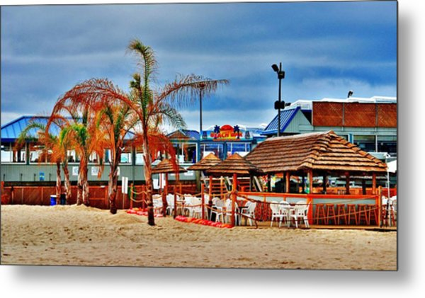 Martells On The Beach - Jersey Shore Metal Print