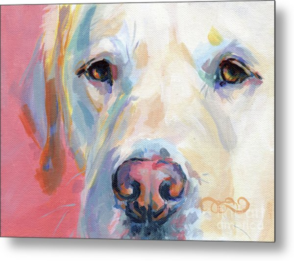 Martha's Pink Nose Metal Print