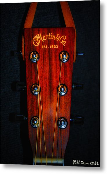 Martin And Co. Headstock Metal Print