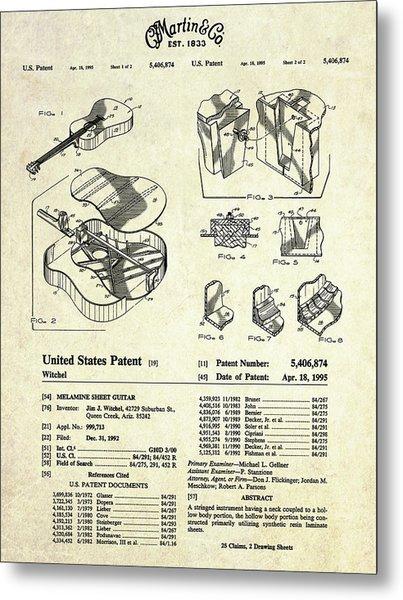 Martin Guitar Patent Art Metal Print