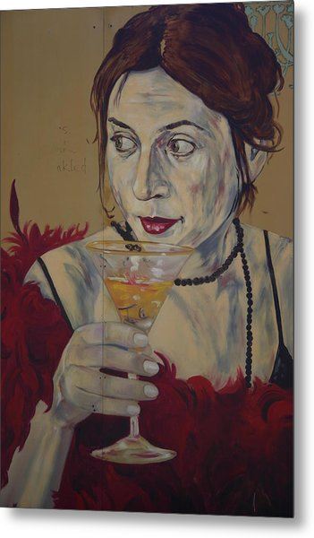 Martini Lady Metal Print by Dennis Curry