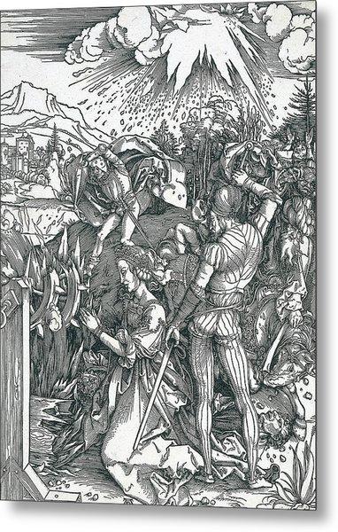 Martyrdom Of Saint Catherine Metal Print