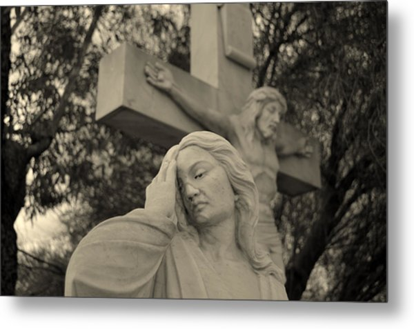 Mary Magdalene At The Crucifixion Metal Print