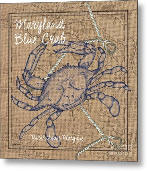 Maryland Blue Crab Metal Print