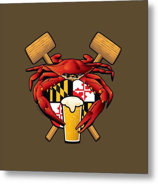 Maryland Crab Feast Crest Metal Print