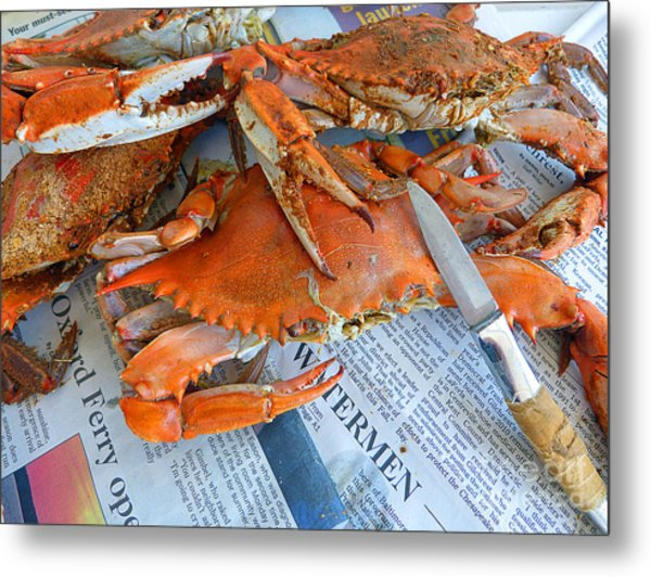 Maryland Feast Metal Print